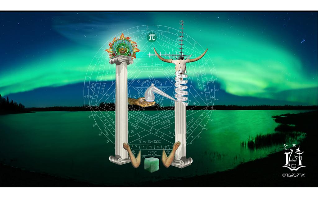 Le sigil personnel de Hiramash, aurore boreale, magie et symboles